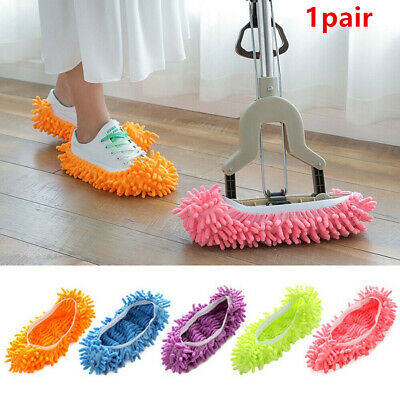 1pair Microfibre Sock Shoe Duster Slippers Dust Remover Cleaning Floor Polisher • 4.19£