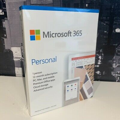 AU90.38 • Buy Microsoft Office 365 Personal Word Excel Powerpoint 1 User - PC MAC Subscription