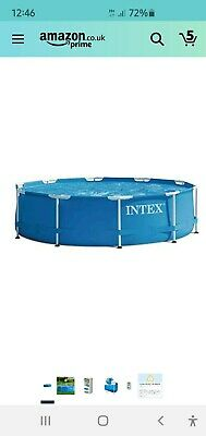 Intext 10ft Round Framed Outdoor Swimming Pool • 55£