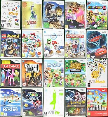 Nintendo WII Games Wholesale Pick Up Your Game Multi Buy Discount - PAL FREE P&P • 7.99£