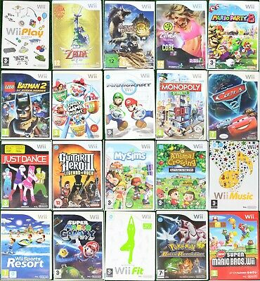 Nintendo WII Games Wholesale Pick Up Your Game Multi Buy Discount - PAL FREE P&P • 3.99£