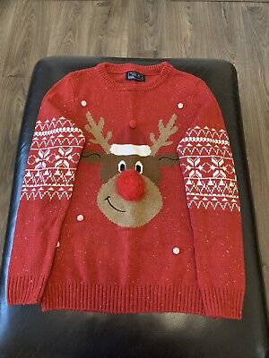 Next Boys Christmas Rudolph Jumper - 12 Years • 0.99£
