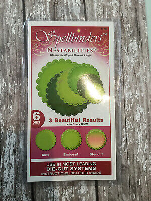 Spellbinders Nestabilities Classic Scalloped Circles Large Craft Clearout • 2.50£