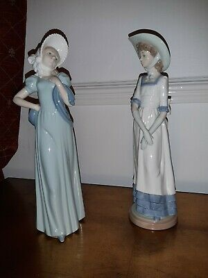 Ladro Nao Figurines. 2 Lovely Female Figurines. Excellent Condition • 31£