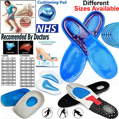Orthotic Insoles For Arch Support Plantar Fasciitis Flat Feet Back & Heel Pain • 3.89£