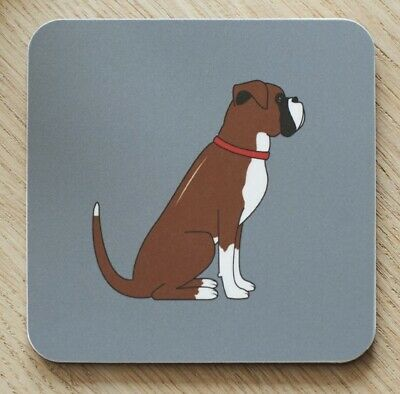 BOXER Dog Drinks Coaster Gift For Dog Lovers / Pet Owners | Stocking Filler • 5.99£