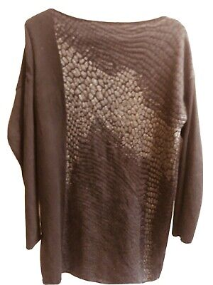 Sarah Pacini Jumper, One Size, Black With Dull Silver Detail • 10£