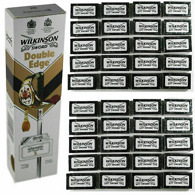 100% GENUINE Wilkinson Sword Double Edge Classic Mens Safety Razor Blades  • 1.85£