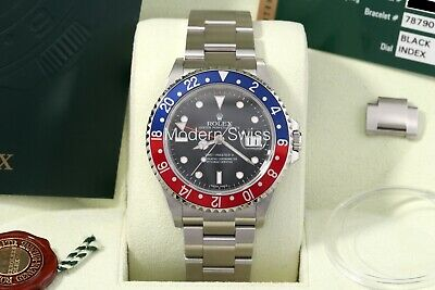 $ CDN31139.91 • Buy Rolex GMT-Master II Pepsi Stick Dial 3186 W/ Card/Box/Papers 16710