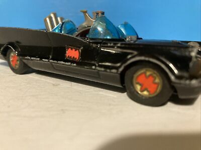 CORGI BATMOBILE, 267; 1960s ?- RED BAT HUBS - ORIGINAL BATMAN AND ROBIN • 15£