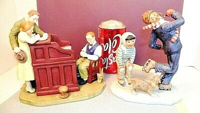 $ CDN56.96 • Buy Norman Rockwell Figurines  Gay Blade' And   THE MARRIAGE LICENSE  Gorham 1982