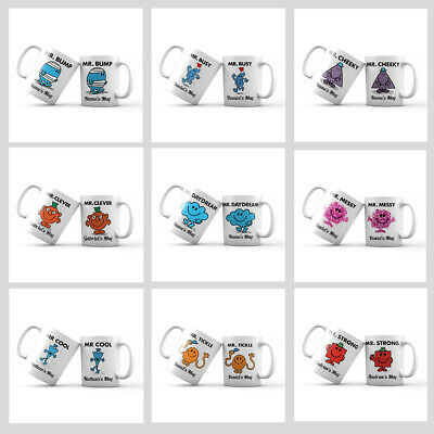 Mr Men Personalised Mug With Your Name Christmas Coffee Mug Tea Cup Novelty Gift • 8.49£