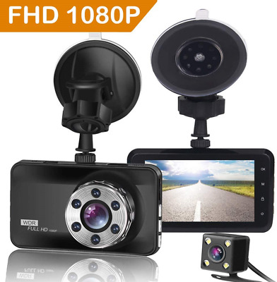 AU89.41 • Buy ORSKEY Dash Cam Front And Rear 1080P Full HD Dual Dash Camera In Car Camera For
