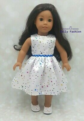 Christmas Stars Dress Fits Our Generation Fits American Girl Doll Handmade • 8.95£