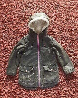 Joules Dark Green Soft Waxed Jacket Age 7-8 • 5£