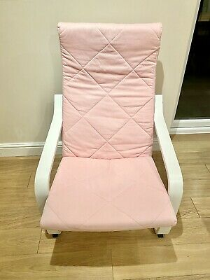 IKEA Pink Rocking Chair - Nursery, Conservatory, Lounge Etc Good Used Condition • 1£