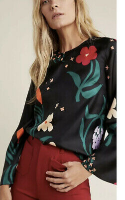$ CDN235.62 • Buy Anthropologie Marimekko Mysteeri Silk Blouse NWT Size Large