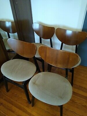Vintage G Plan E Gomme Butterfly Kitchen Dining Chairs X 4 Retro  • 50£