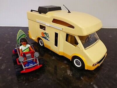 Playmobil Camper Van, Accessories And Surfer With Buggy  • 6£