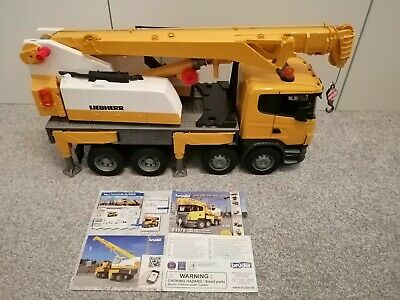 Bruder - Scania Liebherr Crane Truck 1:16 Includes Lights And Sounds Module  • 60£