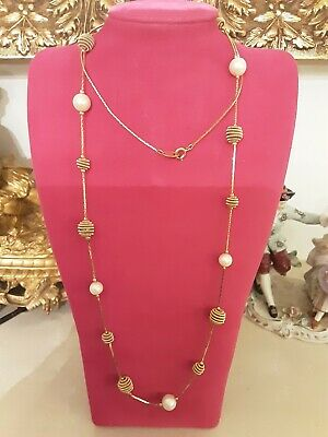 Vintage Trifari Pearl And Gold Necklace • 20£