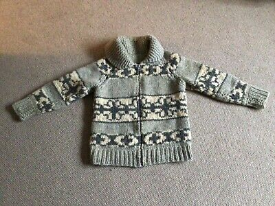 Vintage Fair Isle Chunky Cardigan Small Hand Knitted  • 15£
