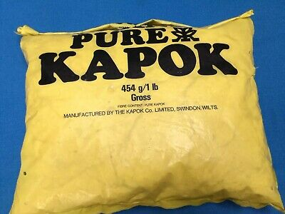 KAPOK PURE STUFFING. UNUSED. 200g Left In A Bag. • 3£
