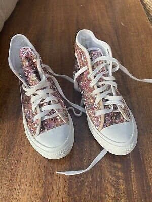 Converse All Star Sequin Trainers Size 3 • 3£