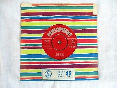 The Beatles,love Me Do + P.s. I Love You, 1962, Plays Great, Very Good Condition • 55.99£