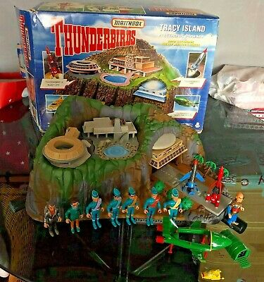 Vintage Thunderbirds Tracy Island Matchbox Figures Playset  Electronic Boxed • 79.99£