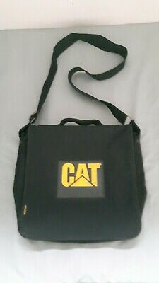 CAT Black Messenger Bag With Shoulder Strap • 4£