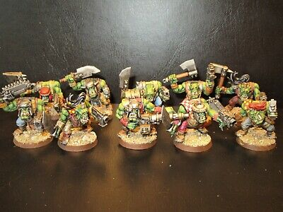 Orcs, Warhammer 40k, 10 Orc Figures. Painted. Group 2. • 37£
