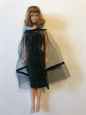 $ CDN1.28 • Buy Mattel Barbie Doll Strawberry Blonde Blue Eyes Vintage Black Label Outfit Dress