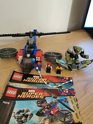 Lego Marvel Avengers Super Heroes 76016, Spider Helicopter Rescue, Complete • 6.99£