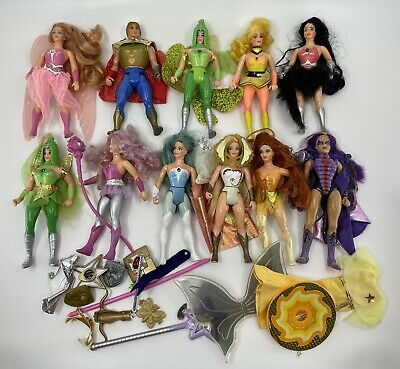$66 • Buy +30 PC LOT VINTAGE 80's MOTU MASTERS OF THE UNIVERSE SHE-RA FIGURES ACCESSORIES