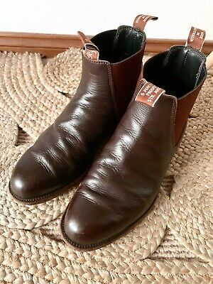 AU150 • Buy RM WILLIAMS Craftsman Brown Leather Boots Sz 9.5G | Good Cond