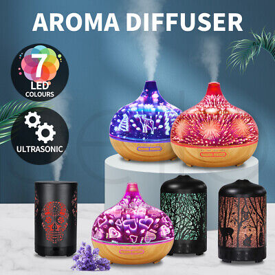 AU35.99 • Buy Aroma Diffuser Aromatherapy Ultrasonic 3D Air Humidifier Essential Oil Purifier