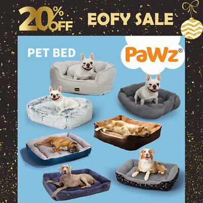 AU32.99 • Buy PaWz Pet Bed Dog Cat Beds Bedding Calming Warm Soft Cushion Mattress Plush Comfy