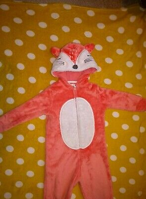 M&S 2-3 Fox All In One/ Fluffy/ Onsie Not Gerber • 3£