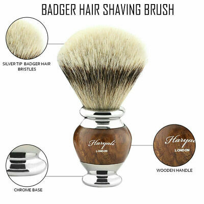 Stunning Silver Tip Badger Shaving Brush Hand-Crafted In UK Men´s Grooming Tool • 20.88£