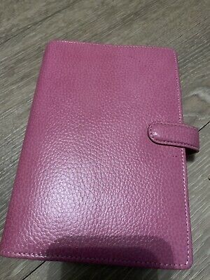 Pink Leather Filofax Personal Finsbury A5 • 6.50£