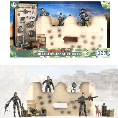 $34.73 • Buy World Peacekeepers Military Assault Unit Includes 3 Army Toy Figures