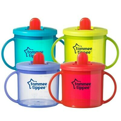 Tommee Tippee Free Flow Essentials First Cup Green 190ml Baby Beaker - 4 Months  • 4.99£