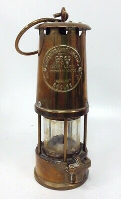 Vintage Miners Eccles Safety Protector Lamp Brass Type GR6S Good Condition #266 • 10.50£