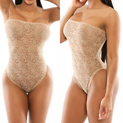 Sexy Women Lace Crochet Bustier Monokini Swimwear Swimsuit Bathing Wear • 6.08£