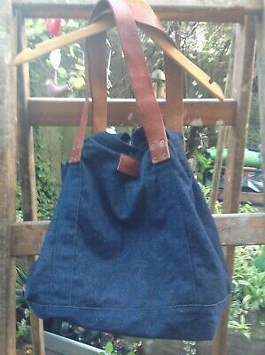 Lee Cooper Denim Bag With Chucky Leather Straps • 12.60£