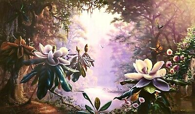 $37 • Buy  Return To Restful River  Magnolia By RC Davis Floral Signed And Numbered