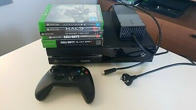 AU90 • Buy Microsoft Xbox One 500GB Black Console With Games, Controller And Cords