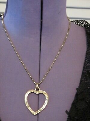 Necklace Costume Jewellery - Gold Coloured Her On Chain River Island (J46) • 1£