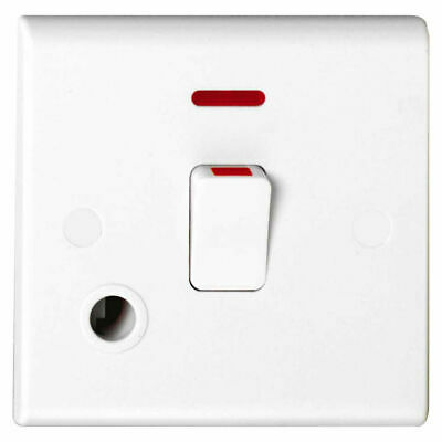 £8.15 • Buy Deta S1393 Double Pole Switch With Neon & Flex Outlet - 20 Amp